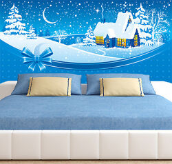 3d Father Christmas House 23 Wall Paper Wall Print Decal Wall Deco Indoor Wall