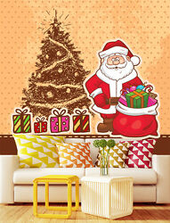 3d Father Christmas Tree 582 Wall Paper Wall Print Decal Wall Deco Indoor Wall