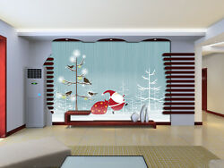 3d Running Father Christmas 2 Wall Paper Wall Print Decal Wall Deco Indoor Wall