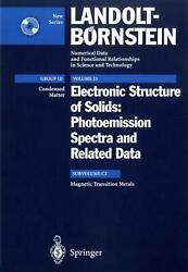 Magnetic Transition Metals Photoemission Spectra And Related Data By Albrecht G