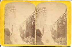 Hillers Stereoview- Views On Brush Creek Utah-lateral Canyon Andndash Powell Exped 1871