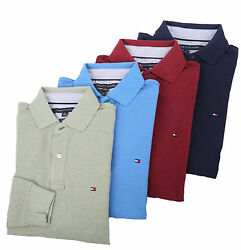 Tommy Hilfiger Men#x27;s Long Sleeve Classic Fit Polo Rugby $0 Free Ship $59.99
