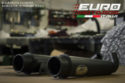 Triumph Bonneville T100 2017-19 Zard Exhaust Full System Silencers Coated Black