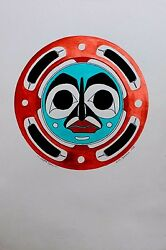 Danny Dennis Original Painting On Paper Hand Signed Native Copper Moon 1993