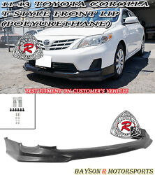 T-style Front Lip Urethane Fits 11-13 Toyota Corolla Us-spec