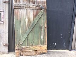 Large 19th Century Salvaged Wooden Barn Door Great Color 86 X 50 Wide