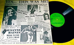 Susanne Haines Register Yes This Was Me Lp Shade Tree St-5696 Miss Nude Universe