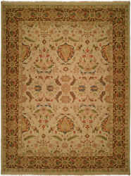 Kalaty Beige Bulbs Leaves Vines Traditional-European Area Rug Bordered CB-886