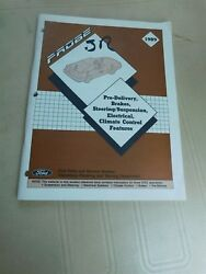 1989 FORD PROBE BRAKE SUSPENSION CLIMATE CONTROL SYSTEMS SHOP SERVICE MANUAL