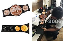 WWE SETH ROLLINS HAND SIGNED AUTOGRAPHED TAG TEAM ADULT BELT W EXACT PIC PROOF