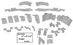 1969-70 Mustang Fastback Body Bracket Kit 25 Pieces New Dii