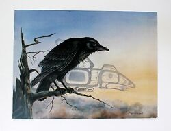 Sue Coleman Hand Signed Numbered Limited Edition Artistand039s Proof Raven 1986