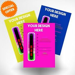 5000 Promotional Thermometer Cards With New Moving Line Thermometer Strip