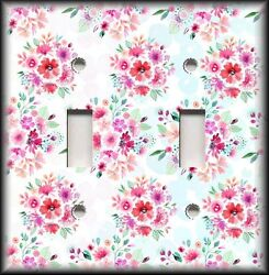 Metal Light Switch Plate Cover - Flower Bouquets Home Decor Floral Wallplate