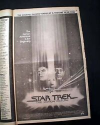 Best Star Trek The Motion Picture Film Movie Opening Day Ad 1979 L.a. Newspaper