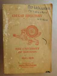 Cougar Directory 1947 1948 University Of Houston By Alpha Phi Omega