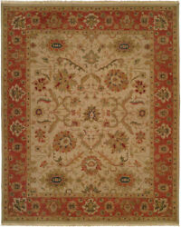 Kalaty Ivory Traditional-European Floral Petals Bulbs Area Rug Bordered SU-114