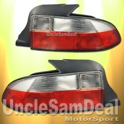For 96-99 Bmw Z3 Roadster Red Clear Lens Oe Style Tail Lights Housing Pair