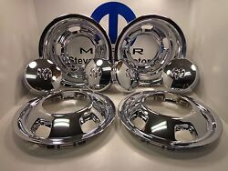 03-18 Dodge Ram 3500 New Chrome Wheel Cover / Cap Package Front And Rear Mopar Oem