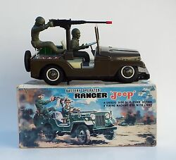 Vintage Army Ranger Jeep Bump And Go Battery Operated No 394 Unused 1970