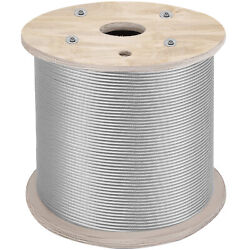 Cable Railing 1000ft Stainless Steel Wire Rope 1/8 Stainless Stranded Wire 1x19