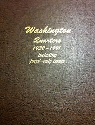 Washington Quarter Set 1932 To 1998 With Proofs. Mostly Xf Or Better Complete