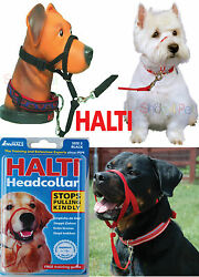DOG HEAD COLLAR HALTI STOPS PULLING KINDLY FOR PET 5 SIZES INSTANT CONTROL
