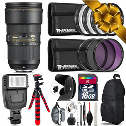 Nikon Af-s 24-70mm F/2.8e Vr + Flash + Tripod And More - 16gb Holiday Gift Kit
