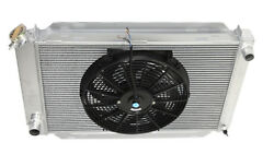 For 79-93 Ford Mustang Glx Lx Gt Svt 3 Row Aluminum Racing Radiator+14 Fans