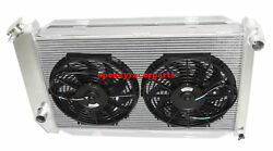 Fit71-73 Ford Mustang V8 Mt Aluminum Racing 3 Row Radiator+12 Fans