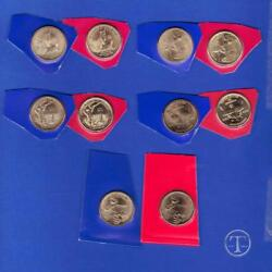 2013 Through 2017 P And D Sacagawea Native American Dollars- From Mint Sets