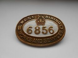 West Riding Works And Services Numbered War Department Numbered Service Badge