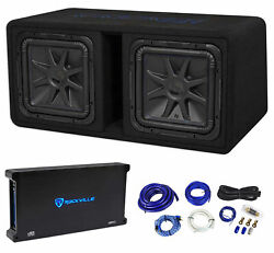 Kicker 44dl7s122 Dual 12 3000w L7 Solo-baric L7s Loaded Subwoofer Box+amp+wires