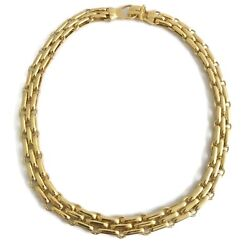 Italian Wide Chain Link Necklace in 18K Yellow Gold, 17 Inches, 44.16 Grams