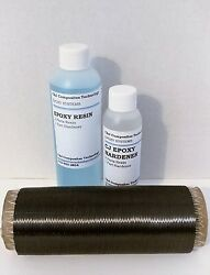 Genuine Carbon Fiber Cloth Uni Repair Kit For Added Stiffness With Epoxy Resin