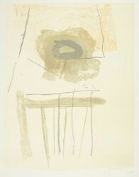 Robert Motherwell Signed 1972 Original Color Lithograph - Chair