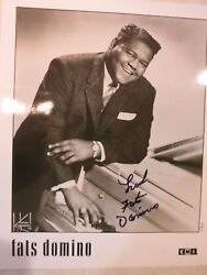 Fats Domino Signed Photo Autographed In Person Coa Album Lp 6 Hall Of Fame