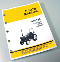 Parts Manual For John Deere 650 750 Tractor Catalog Gas Diesel All Years