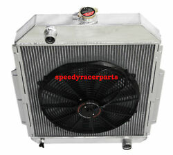 For 48-52 Ford F1-f8 Truck W/chevy L6/v8 3row Aluminum Racing Radiator+16 Fan