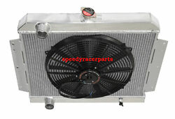 Fit 66-69 International Scout V8 Mt 3 Row Performance Radiator+16 Fans
