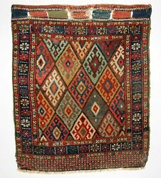 ANTIQUE NORTH PERSIAN JAF KURD BAG FACE EXCELLENT COLOUR AND DESIGN CIRCA 1900