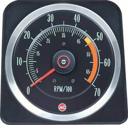 1969 Camaro Ss 350 5 X 7 Tach With 5000 Red Line
