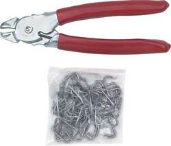 Upholstery Installation Kit With Heavy Duty Pliers And Hog Rings