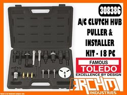 TOLEDO 308386 - AC CLUTCH HUB PULLER & INSTALLER KIT - 18 PC - FLANGE SCREWS