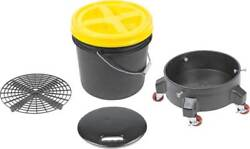 Grit Guard Deluxe Wash System 3.5 Gallon Black Pail With Yellow Lid