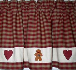 Hearts And Gingerbread Valances Tiers Runners Country Primitive Gingerbread Art