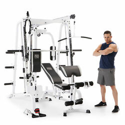 Marcy Pro Smith Cage Workout Machine Total Body Training Home Gym System