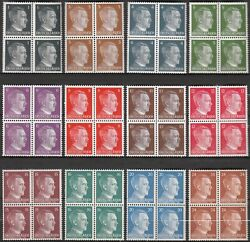 Stamp Germany Mi 781-92 Sc 506-17 Block 1941 Wwii 3rd Reich Hitler Subset Mnh
