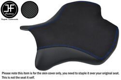 Carbon Vinyl And Suede Blue St Custom For Yamaha Yzf R6 600 17-18 Front Seat Cover
