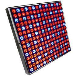 Hqrp Advanced 45w Square 12 225 Led Grow Light Panel Blue And Red W/ Hanging Kit